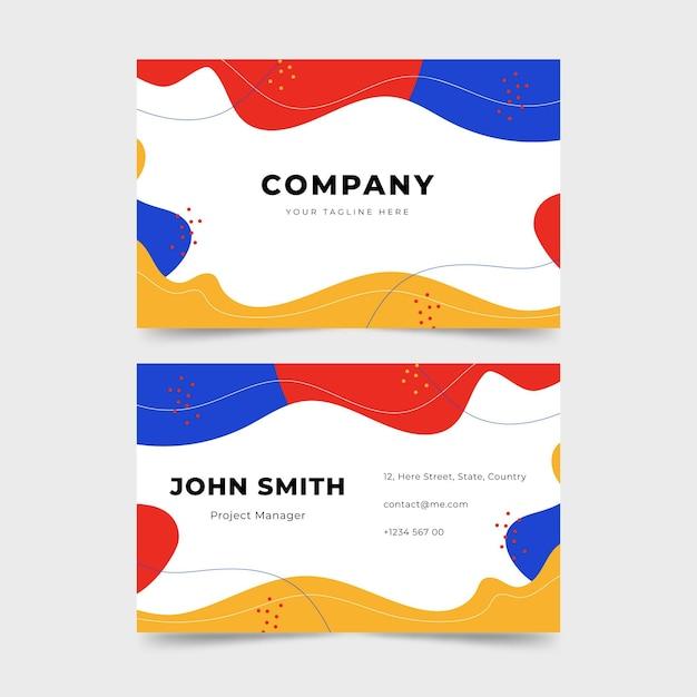 Cartões de visita de design fluido Vetor grátis