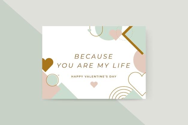 Cartões geométricos coloridos para o dia dos namorados Vetor grátis