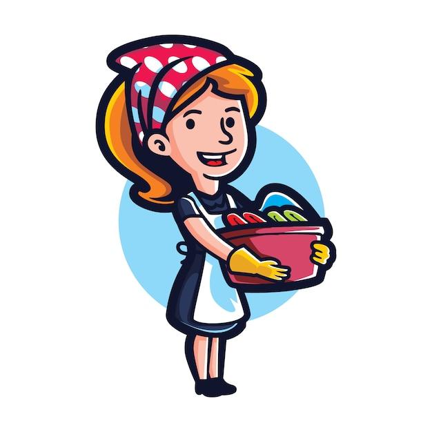 Cartoon best maid Vetor Premium