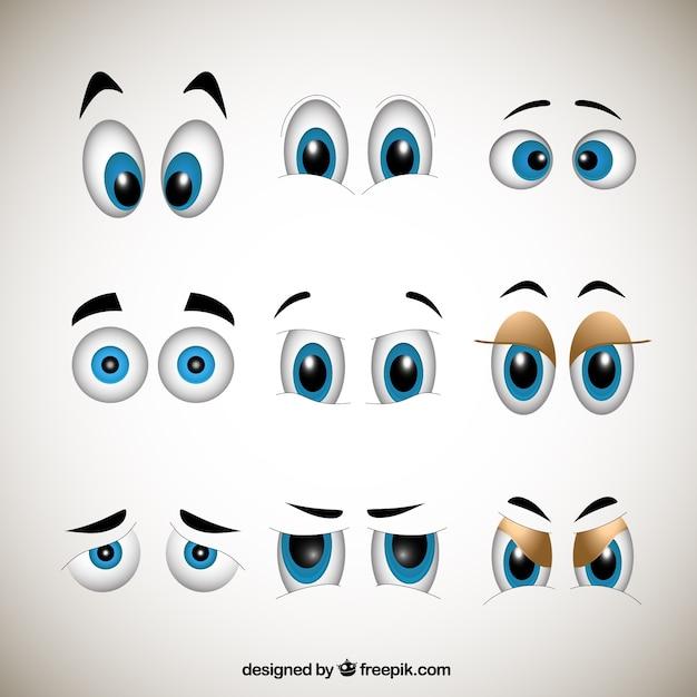 Cartoons olhos Vetor grátis