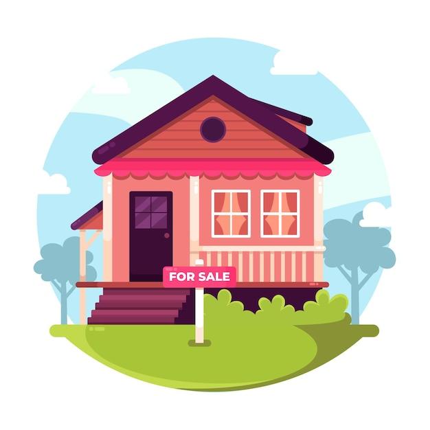 Casa à venda / para alugar Vetor grátis
