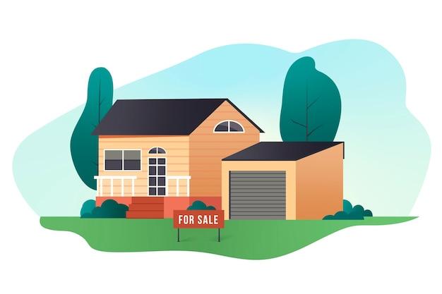 Casa à venda / para alugar Vetor Premium