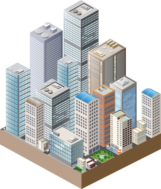 Casa de arranha-céus Vetor Premium