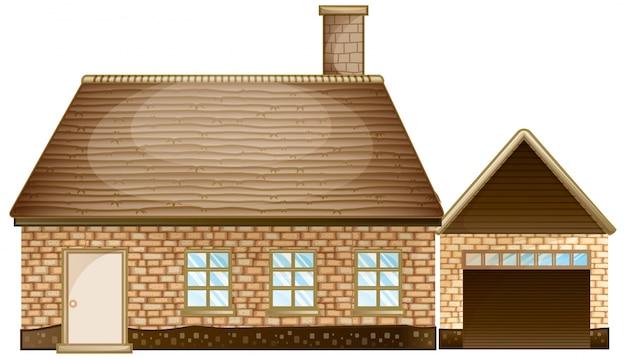 Casa de tijolos com garagem baixar vetores gr tis for Case con garage enormi