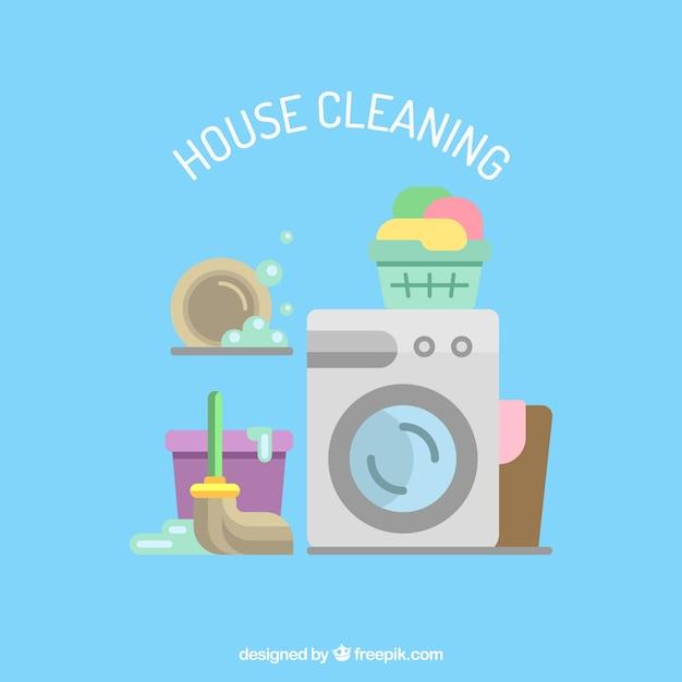 Casa ícones serviços de limpeza Vetor grátis