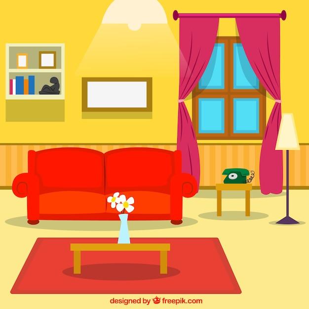 Casa interior baixar vetores gr tis for Sala de estar animada
