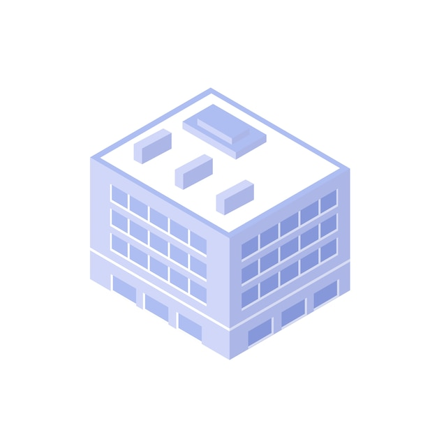 Casa isométrica urbana Vetor Premium