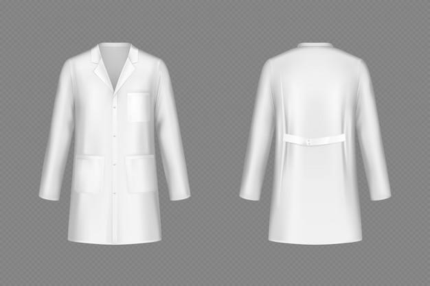 Casaco de médico branco vector, uniforme médico Vetor grátis