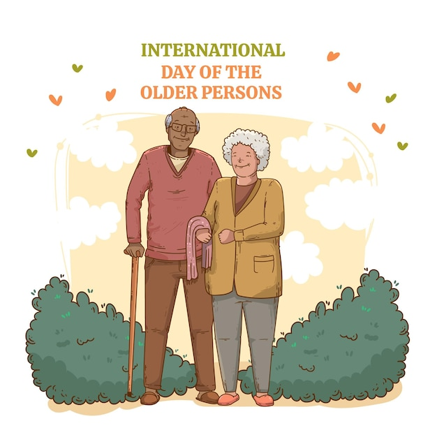 Casal feliz dia dos anciãos Vetor grátis