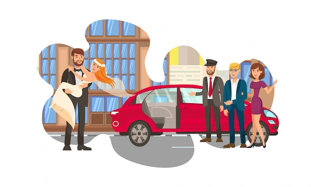 Casal, recém-casados cor lisa ilustração Vetor Premium