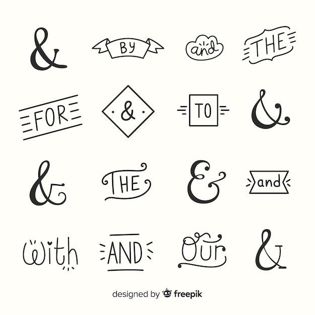 Casamento e comercial e slogans lettering Vetor grátis