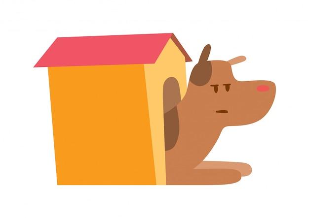 Casinha de cachorro Vetor Premium