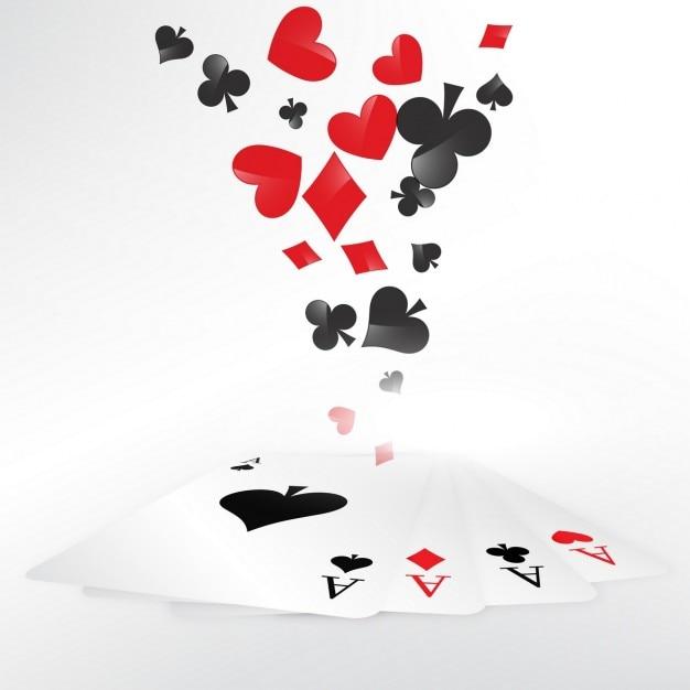Casino dos cartões de jogo ilustração Vetor grátis