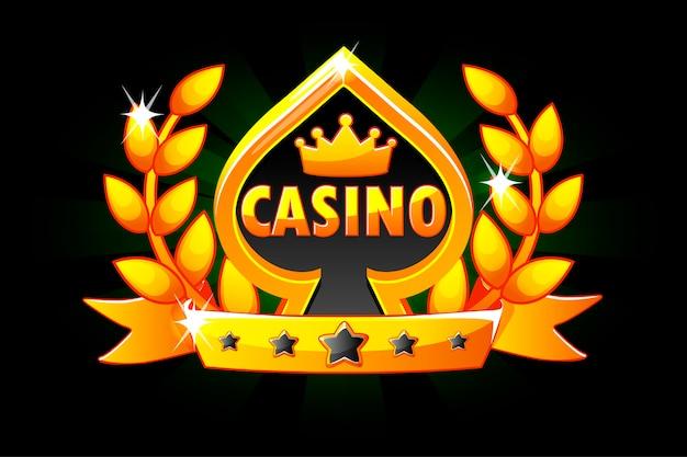 Casino e símbolo de cartão de jogo. Vetor Premium