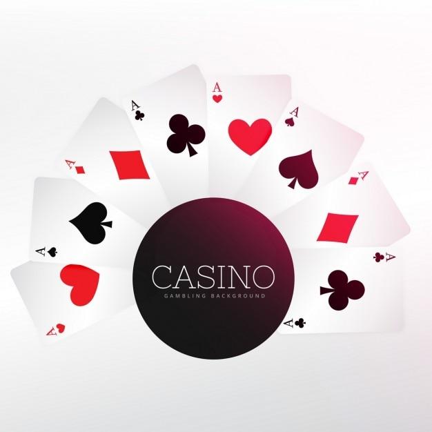 Casino jogando cartas fundo Vetor grátis