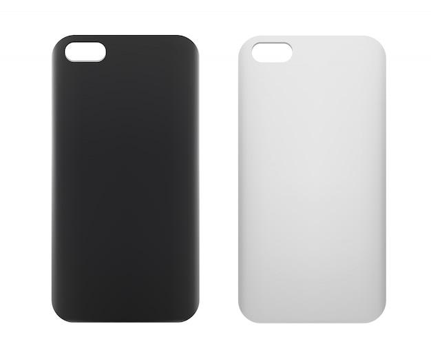 Caso de smartphone em branco. Vetor Premium