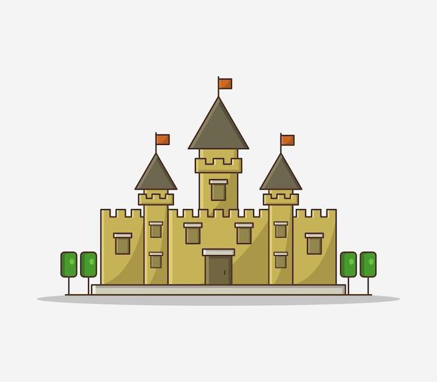 Castelo de desenho animado ilustrado Vetor grátis