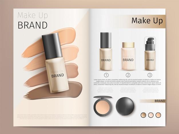Catálogo de produtos cosméticos ou modelo de folheto Vetor Premium