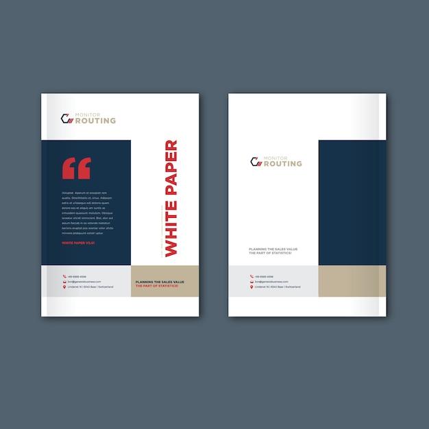 Catálogo, folheto, modelo de brochura Vetor Premium