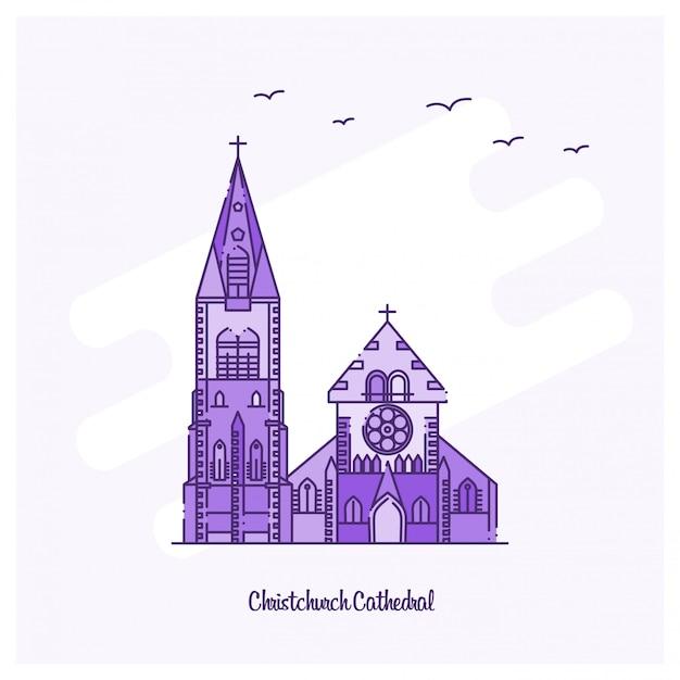 Catedral de christchurch Vetor Premium