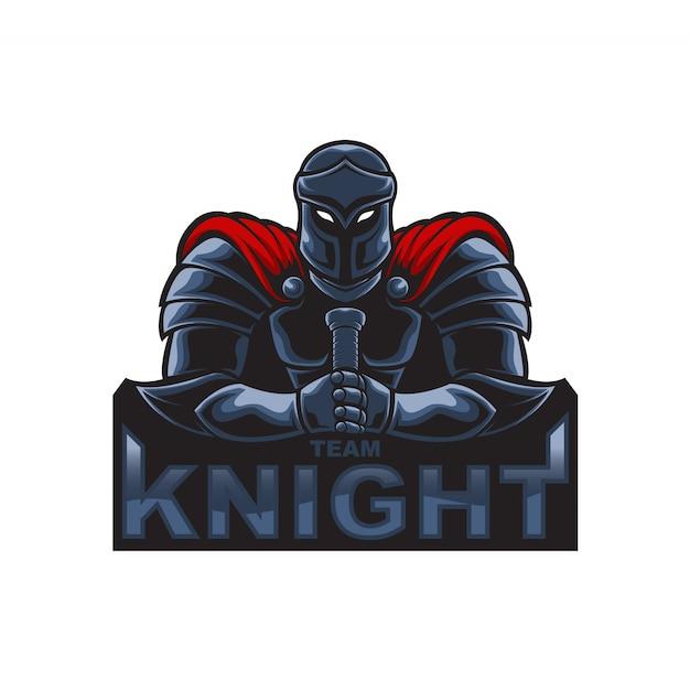 Cavaleiro do logotipo da mascote Vetor Premium