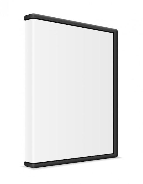 Cd e dvd bisk caixa caixa embalagem ilustração vetorial Vetor Premium