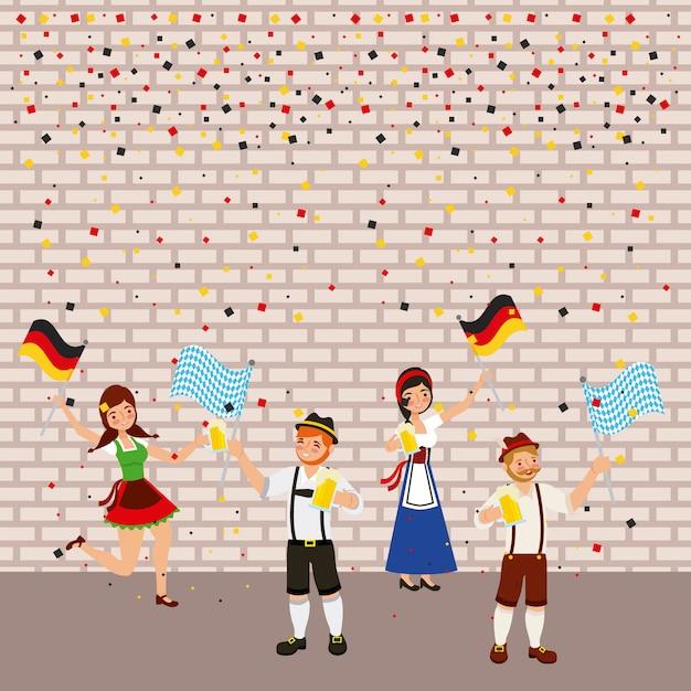Celebração alemã da oktoberfest Vetor grátis