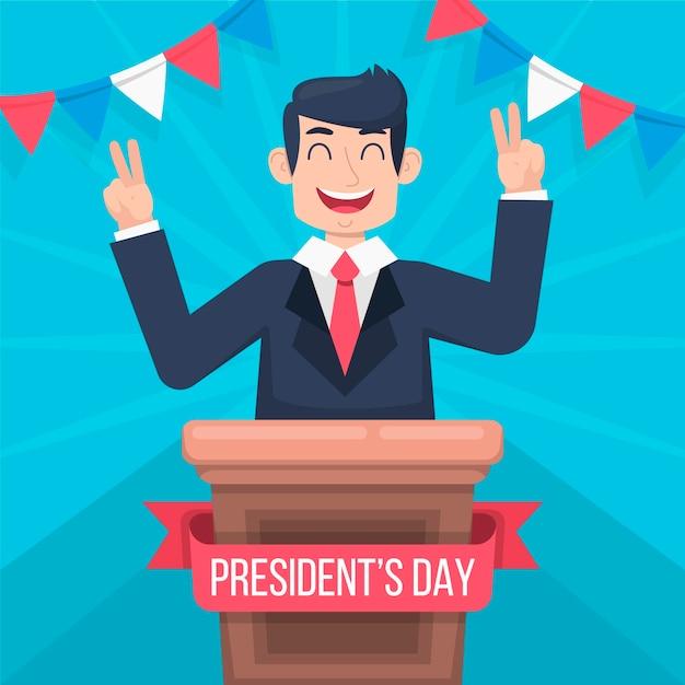Celebração colorida do dia do presidente Vetor grátis