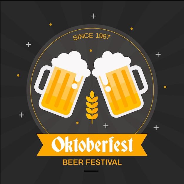 Celebração da oktoberfest Vetor grátis
