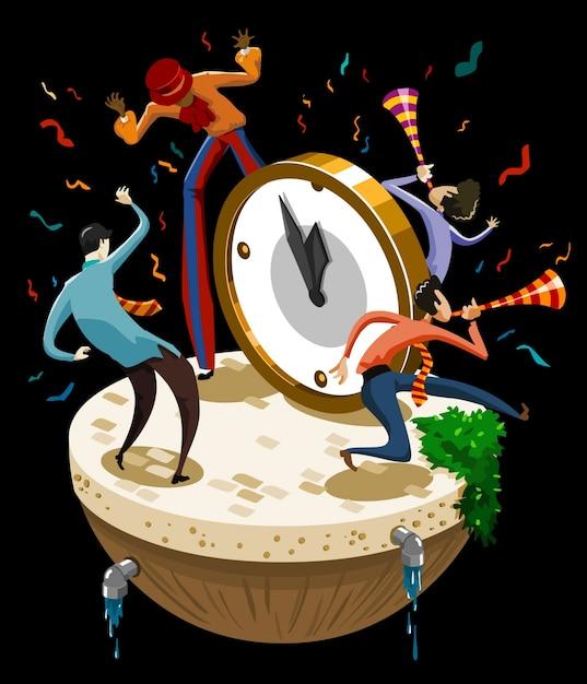 Celebração de ano novo Vetor Premium