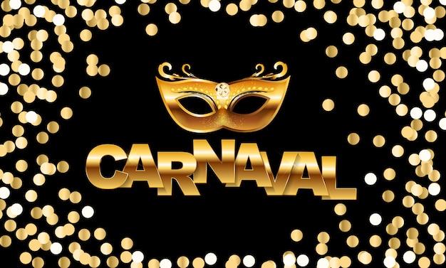 Celebração de carnaval com confete Vetor Premium