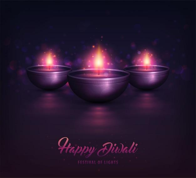 Celebração de diwali Vetor Premium