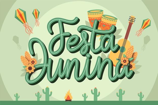 Celebração de festa junina design plano Vetor grátis