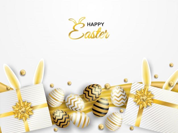 Celebração de páscoa feliz. Vetor Premium