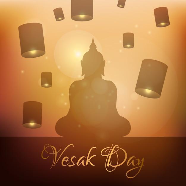 Celebração de vesak de estilo simples Vetor grátis