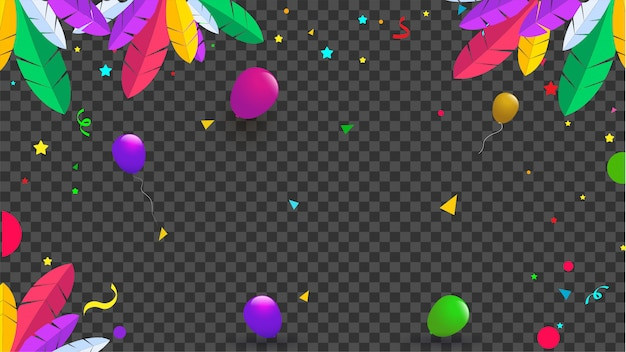 Celebração do carnaval. Vetor Premium