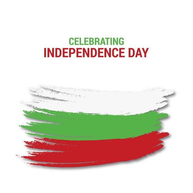Celebração do dia da independência da bulgária Vetor grátis