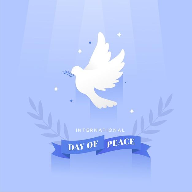 Celebração do dia da paz de design plano Vetor grátis