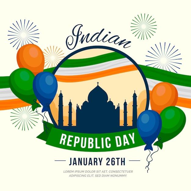 Celebração do dia da república indiana Vetor grátis