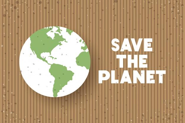 Celebração do dia da terra do planeta Vetor Premium