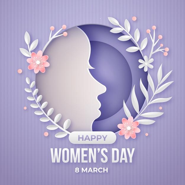 Celebração do dia das mulheres em estilo de jornal Vetor grátis