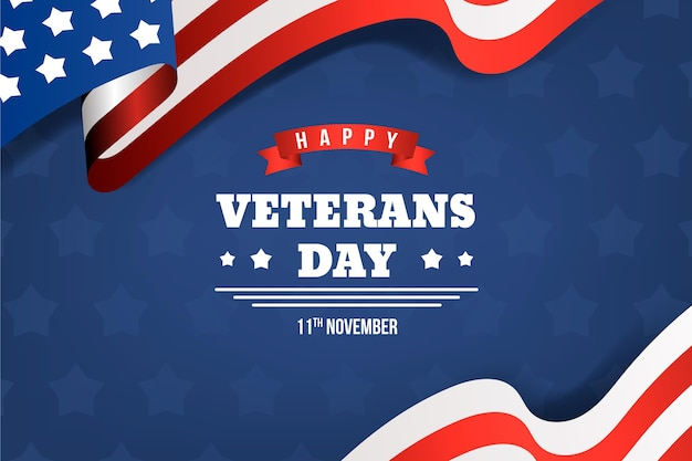 Celebração do dia dos veteranos de estilo realista Vetor Premium