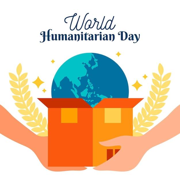 Celebração do dia humanitário mundial Vetor grátis