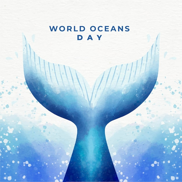 Celebração do dia mundial dos oceanos Vetor grátis