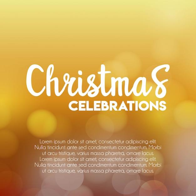 Celebrações de natal fundo brilhante Vetor grátis