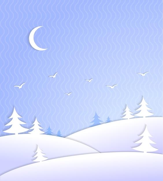 Cena de fundo de inverno gelada Vetor grátis