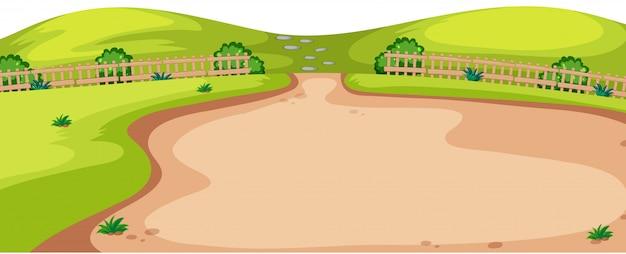 Cena de paisagem ambiente natural Vetor grátis