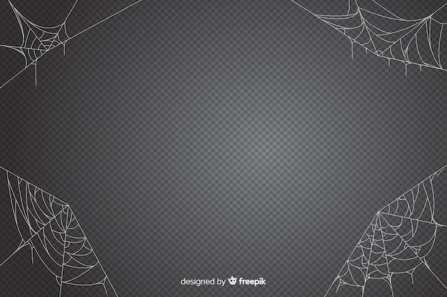 Cenário de web de aranha de halloween Vetor grátis