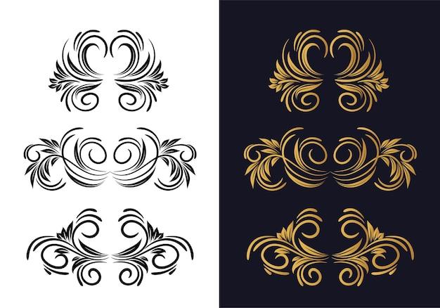 Cenografia decorativa elegante e decorativa floral Vetor grátis