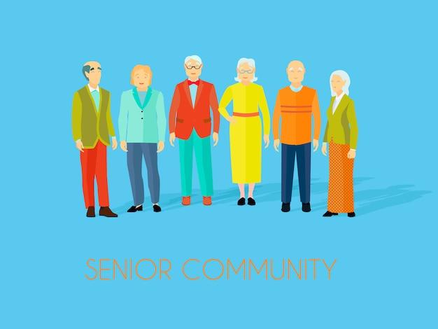 Centro comunitário sênior Vetor grátis